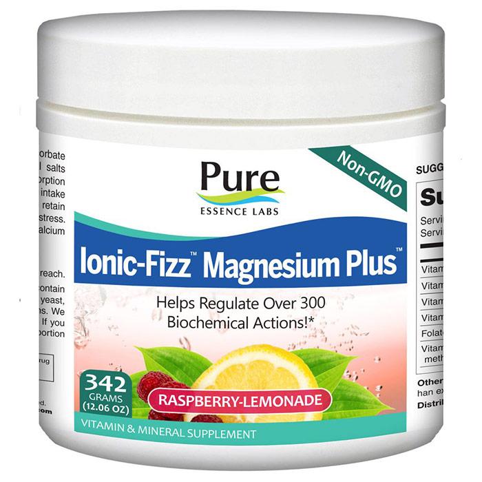 Ionic-Fizz Magnesium Plus Powder - Raspberry Lemonade, 342 g, Pure Essence Labs
