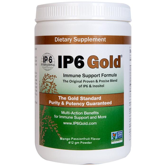 IP6 Gold Powder, Immune Support Formula, Tropical Fruit Flavor, 14.6 oz, IP-6 International