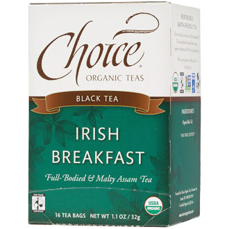 Irish Breakfast Black Tea, 16 Tea Bags, Choice Organic Teas