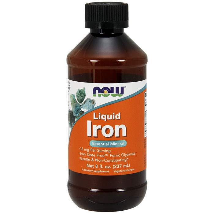 Iron Liquid, Gentle & Non-Constipating, 8 oz, NOW Foods