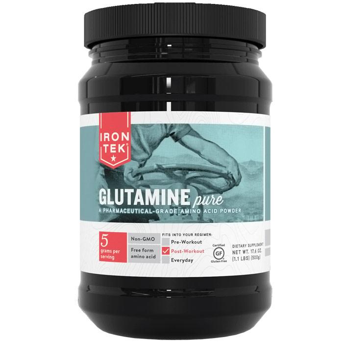 Iron-Tek Glutamine Pure Powder, 17.6 oz (1.1 lb)