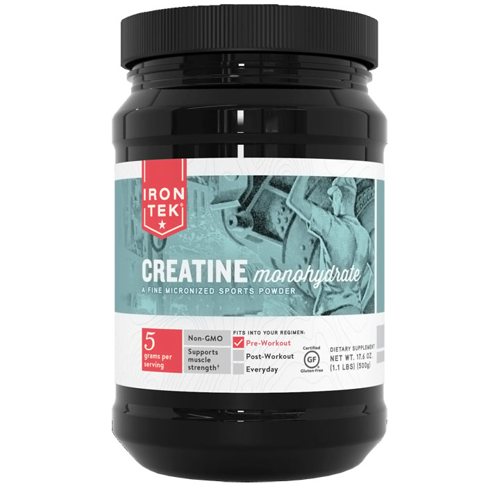 Iron-Tek Creatine Monohydrate Powder, 17.6 oz (1.1 lb)