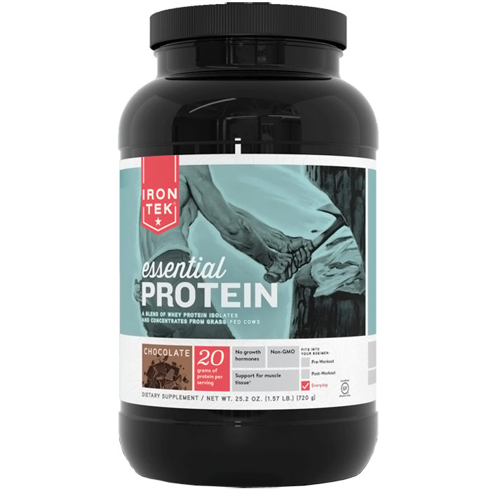 Iron-Tek Essential Protein Blend - Chocolate, 25.2 oz (1.57 lb)