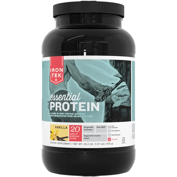Iron-Tek Essential Protein Blend - Vanilla, 25.2 oz (1.57 lb)
