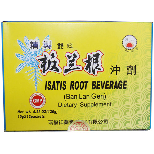 Isatis Root Beverage, 12 Packets/Box, 1 Box, Naturally TCM