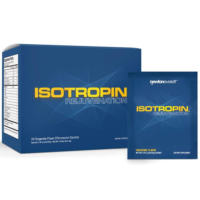 Isotropin Rejuvenation Effervescent, Tangerine Flavor, 20 Sachets, Newton-Everett