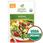 Italian Salad Dressing Mix, Gluten Free, 0.7 oz, Simply Organic
