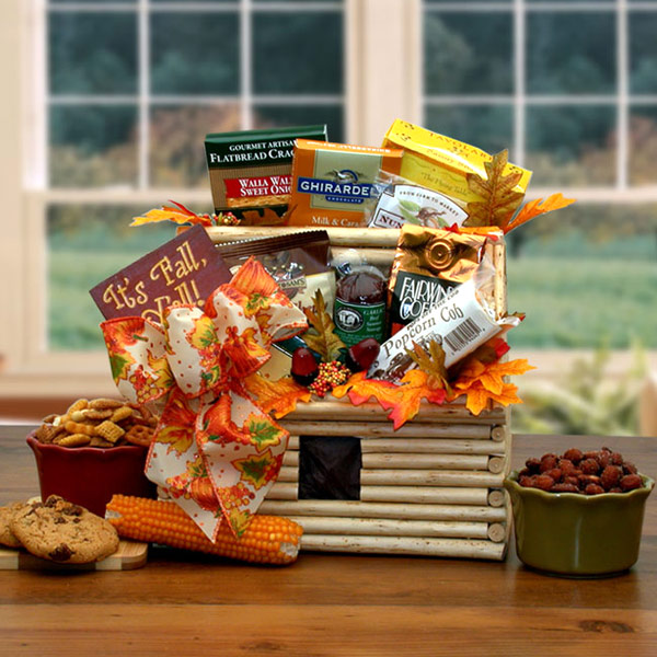 It's Fall Y'All Fall Log Cabin Gift, Elegant Gift Baskets Online