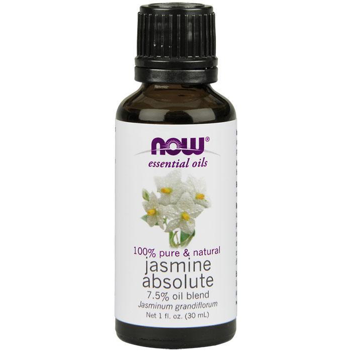 Jasmine Absolute Oil 7.5%, 1 oz, NOW Foods