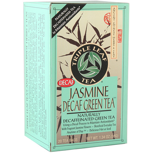 Jasmine Decaf Green Tea, 20 Tea Bags x 6 Box, Triple Leaf Tea
