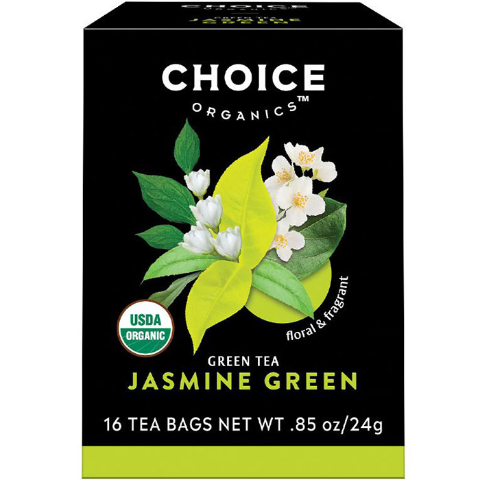Jasmine Green Tea, 16 Tea Bags, Choice Organic Teas