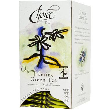 Organic Jasmine Green Tea, 20 Tea Bags, Choice Organic Teas