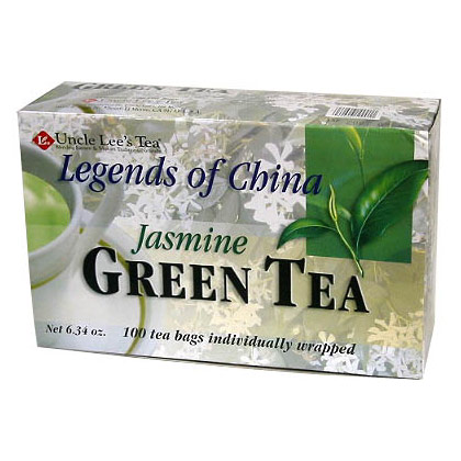 Legends of China, Jasmine Green Tea, 100 Tea Bags, Uncle Lee's Tea