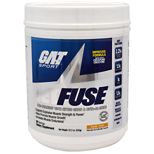 GAT JetFUSE, Pre-Workout with Nitric Oxide & Beta-Alanine, 630 g (30 Servings)