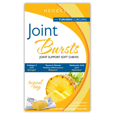 Joint Bursts Chewable, With Turmeric Curcumin & Collagen, 30 Soft Chews, NeoCell
