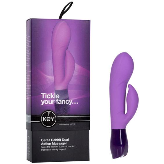 Jopen Key Ceres Rabbit Dual Action Massager Vibrator - Lavender
