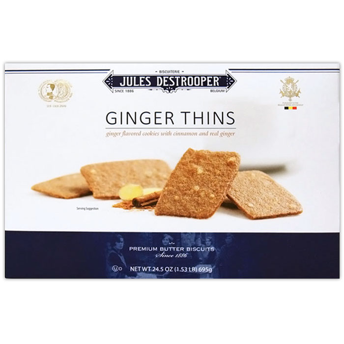 Jules Destrooper Ginger Thins from Belgium, Ginger Cookies, 24.5 oz (695 g)