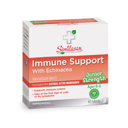 Junior Strength Immune Support with Echinacea, For Kids, 40 Quick Dissolve Tablets, Similasan