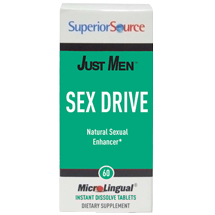 Just Men, Sex Drive, 60 Instant Dissolve Tablets, Superior Source