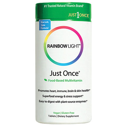 Just Once, Food-Based Multi-Vitamin, 1 Tab Per Day, 30 Tablets, Rainbow Light
