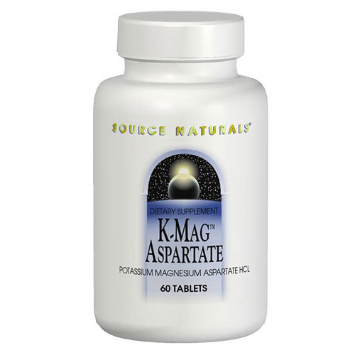 K-Mag Aspartate Potassium/Magnesium 99/75mg 120 tabs from Source Naturals