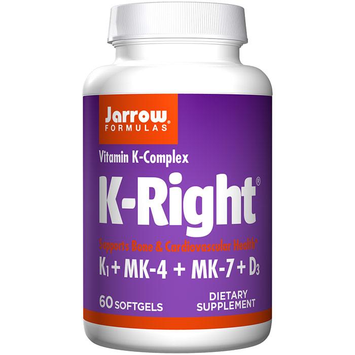 K-Right, Vitamin K Complex, 60 Softgels, Jarrow Formulas