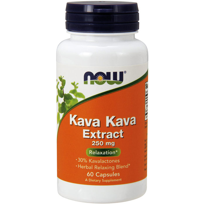 Kava Kava Extract 250 mg, 30% Kavalactones, 60 Capsules, NOW Foods
