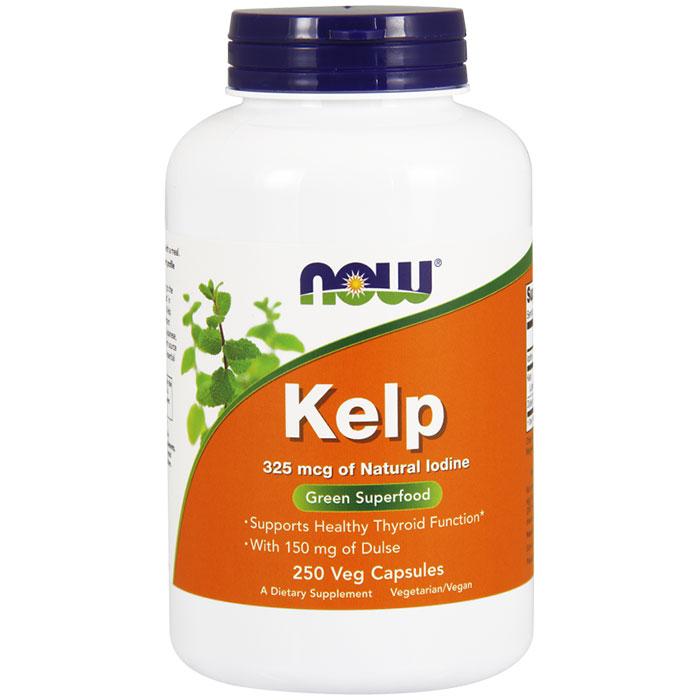 Kelp Caps 325 mcg of Natural Iodine, 250 Vcaps, NOW Foods