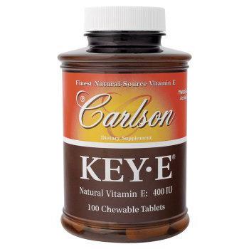 Key-E 400 IU, Natural Vitamin E, 100 chewable tablets, Carlson (Vitamins Supplements - Vitamin E)