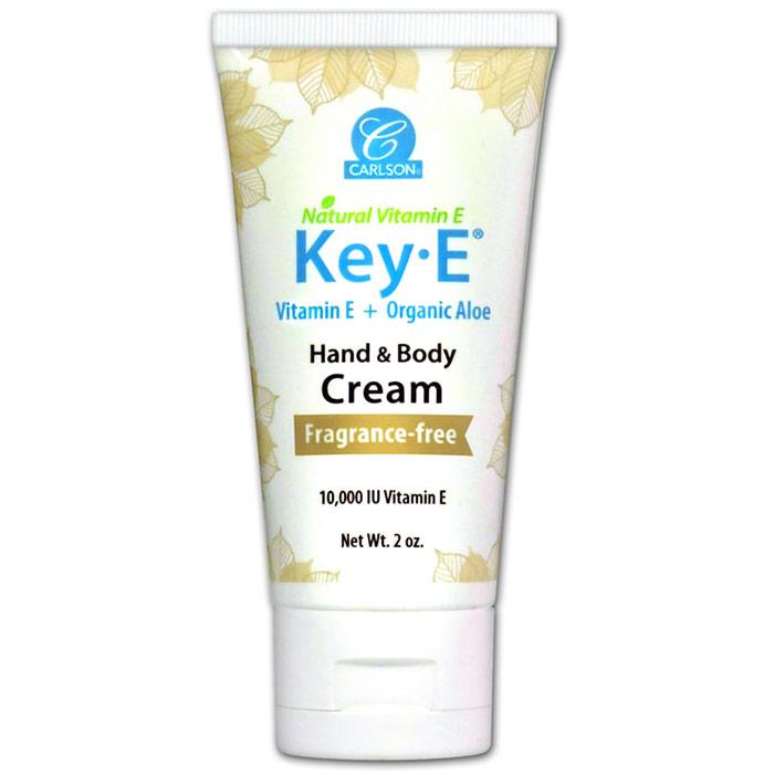 Key-E Cream, Natural Vitamin E Cream, 2 oz tube, Carlson