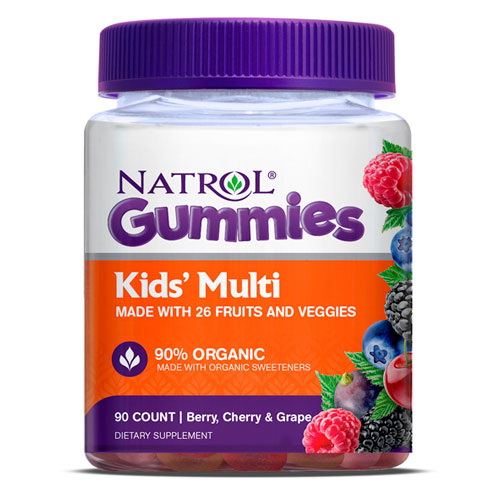 Kids Multi Gummies, Chewable Multi-Vitamins & Minerals, 90 Gummies, Natrol
