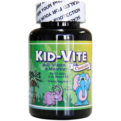 Kid-Vite Chewable, Multi-Vitamin & Minerals for Children,  60 tablets
