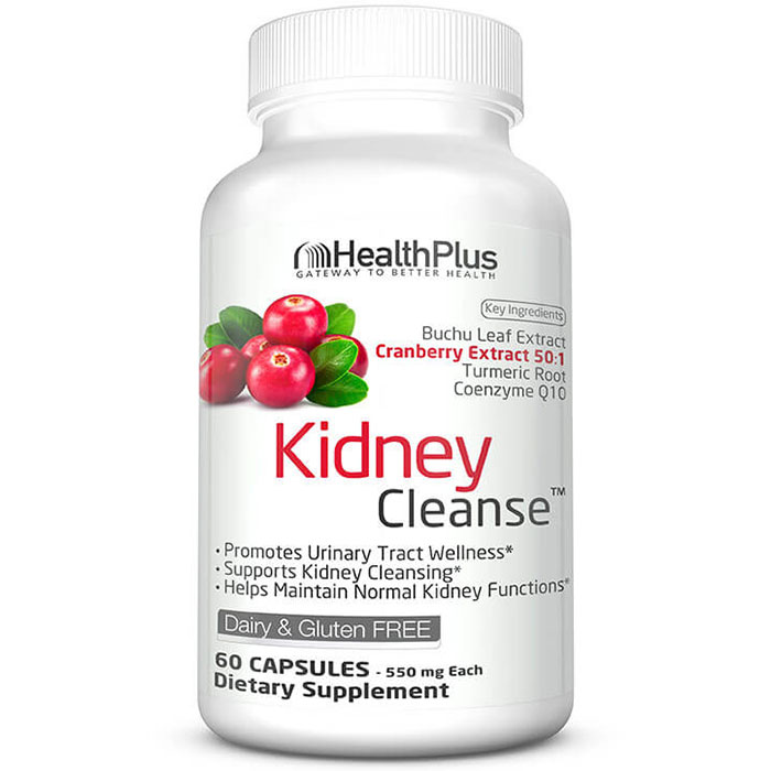 Kidney Cleanse (Kidney Cleansing), 60 Capsules, Health Plus Inc.
