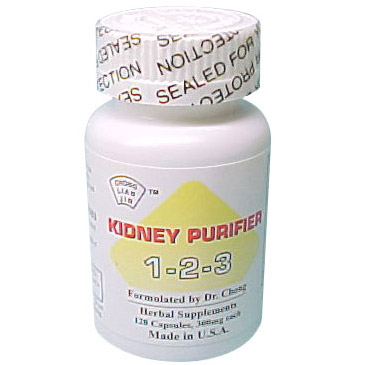 Kidney Purifier 1-2-3 for Kidney Health, 120 Capsules, Dr. Chong