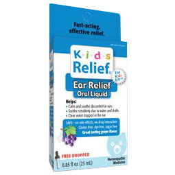 Kids Relief Ear Relief Oral Liquid, Grape Flavor, 0.85 oz, Homeolab USA