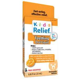 Kids Relief Teething Oral Liquid, Orange Flavor, 25 ml, Homeolab USA