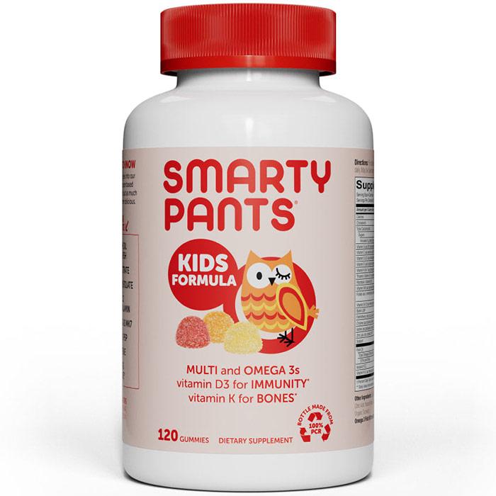 Kids Complete Gummy Vitamins (Multivitamin + Omega 3 + Vitamin D), 120 Gummies, SmartyPants Vitamins