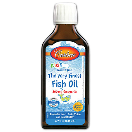Kids Finest Fish Oil Liquid - Orange, 200 ml, Carlson Labs