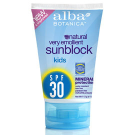 Kids Mineral Sunscreen SPF18, 4 oz, Alba Botanica - CLICK HERE TO LEARN MORE