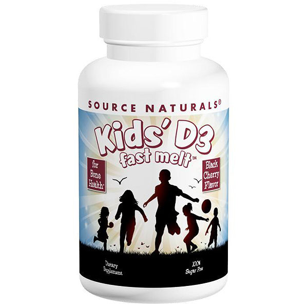 Kids Vitamin D-3 400 IU Fast Melt, 200 Tablets, Source Naturals