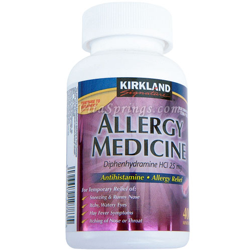 Kirkland Allergy Medicine Antihistamine, Relief of Sneezing & Running Nose 400 ct, 25mg