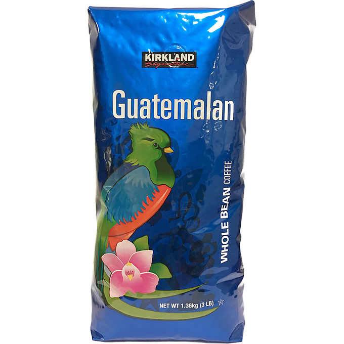 Kirkland Signature Guatemalan Lake Atitlan Whole Bean Coffee, 3 lb