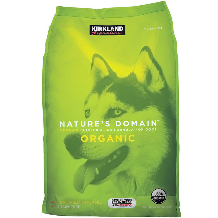 Kirkland Signature Nature's Domain Organic Chicken & Pea Formula Dog Food, 30 lb