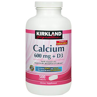 Kirkland Signature Calcium 600 mg + D3, 500 Tablets - CLICK HERE TO LEARN MORE