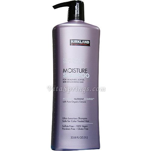 Kirkland Signature Moisture Shampoo, Professional Salon Formula, 33.8 oz (1 L)