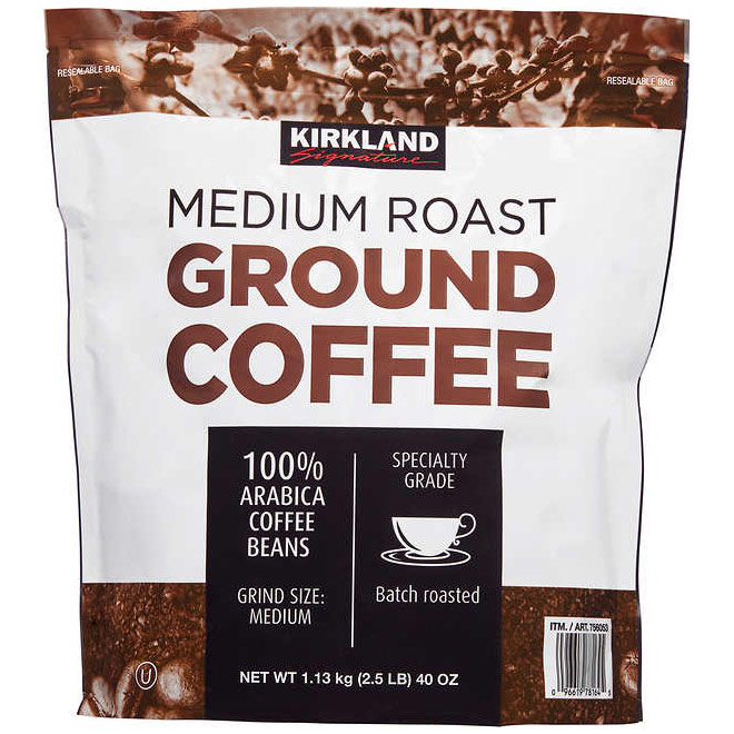 Image of Kirkland Signature Medium Roast Coffee, Arabica Coffee Beans, 40 oz (2.5 lb)