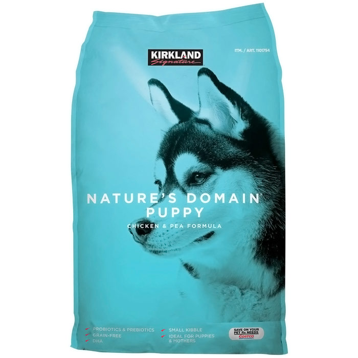 Kirkland Signature Nature's Domain Puppy Chicken & Pea Formula Dog Food, 20 lb