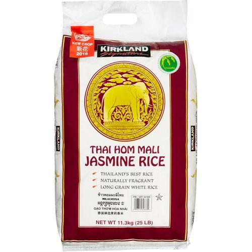 Kirkland Signature Thai Hom Mali Jasmine Rice, Thailands Best Rice, 25 lb (11.3 kg)