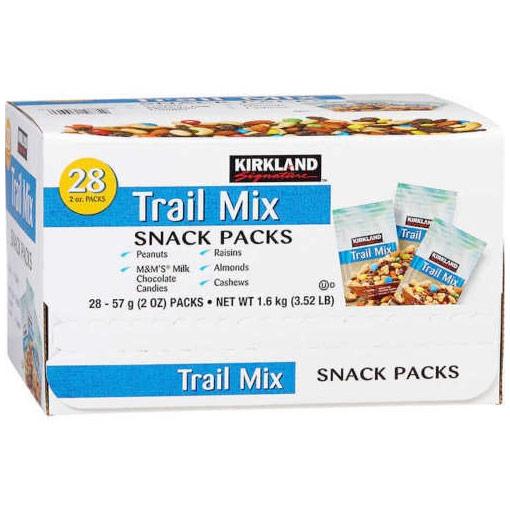 Kirkland Signature Trail Mix Snack Packs, 2.5 oz x 18 Packs (1.27 kg)