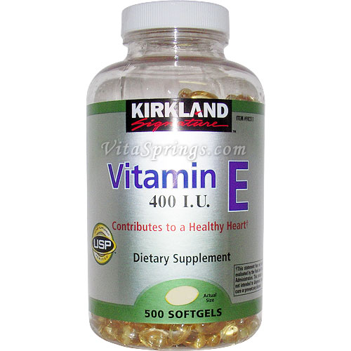 Kirkland Signature Vitamin E 400 IU, 500 Softgels - CLICK HERE TO LEARN MORE